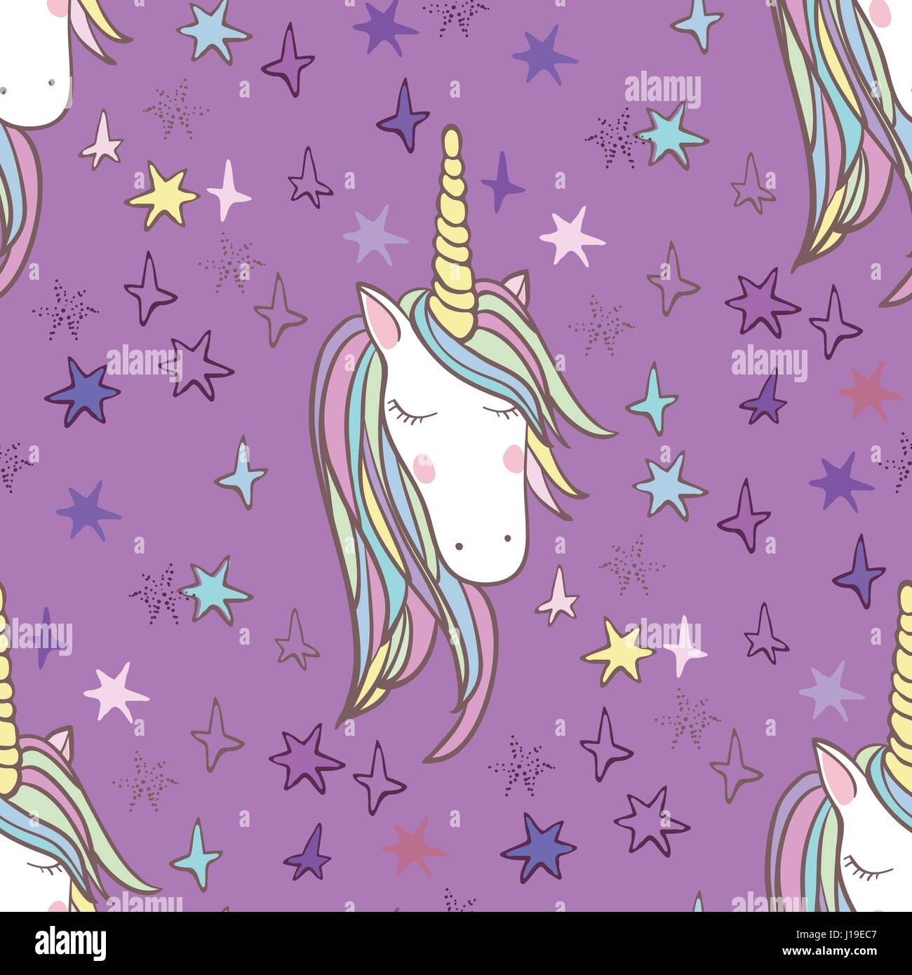 Scrapbook paper books - Unicorn Rainbow Seamless Pattern Girls Scrapbook Paper Perfect For Wrapping Presents Scrapbook Pages Cards Party Decorations Book Journal Cover