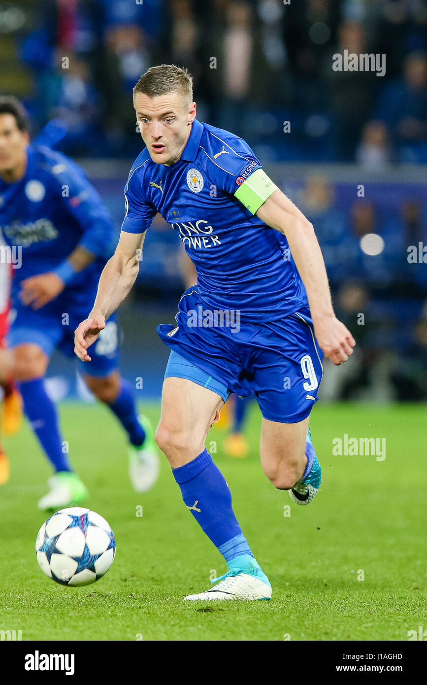 Leicester UK 18th Apr 2017 Jamie Vardy Leicester Stock