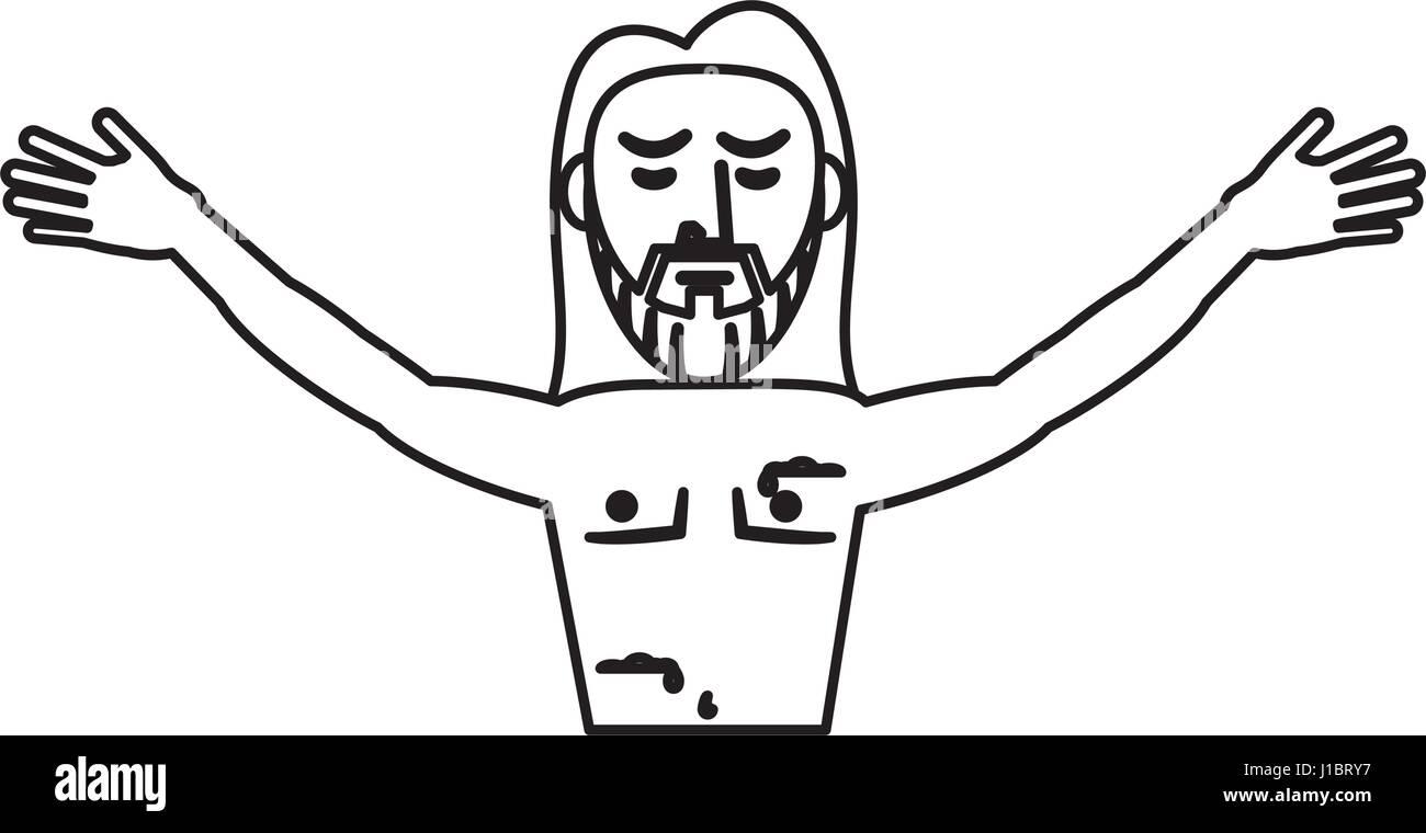Jesus christ resurrection symbol outline stock vector art jesus christ resurrection symbol outline buycottarizona Image collections