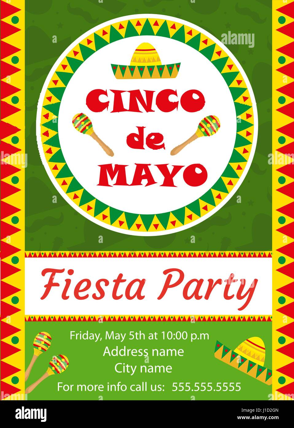 Cinco de mayo invitation template flyer mexican holiday postcard cinco de mayo invitation template flyer mexican holiday postcard vector illustration stopboris Images