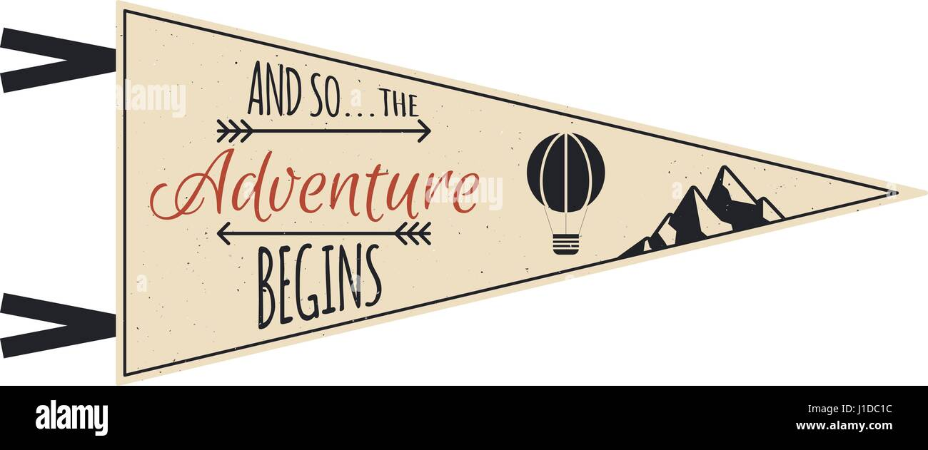 Adventure pennant vector travel pennant design explorer flag adventure pennant vector travel pennant design explorer flag template vintage camping layout pronofoot35fo Images
