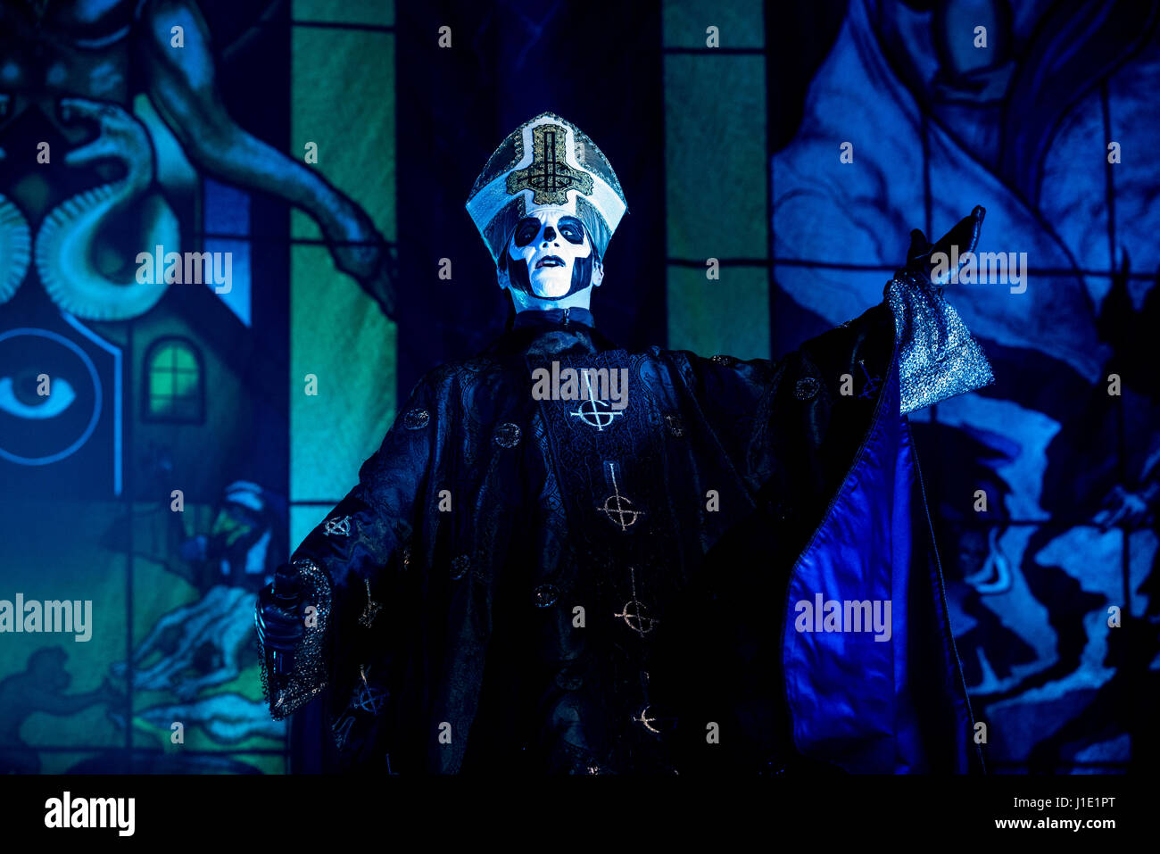 Milan, Italy 19 april 2017 Ghost band perform in Alcatraz. Ghost ...