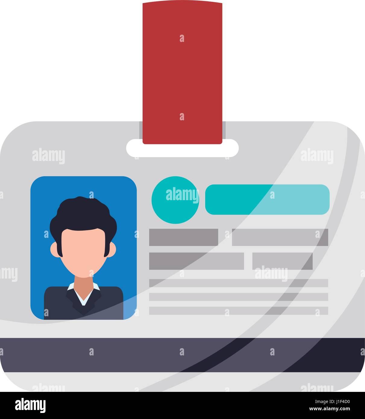 Employee Id Card Stock Vector Art Illustration Vector Image - Employee id card