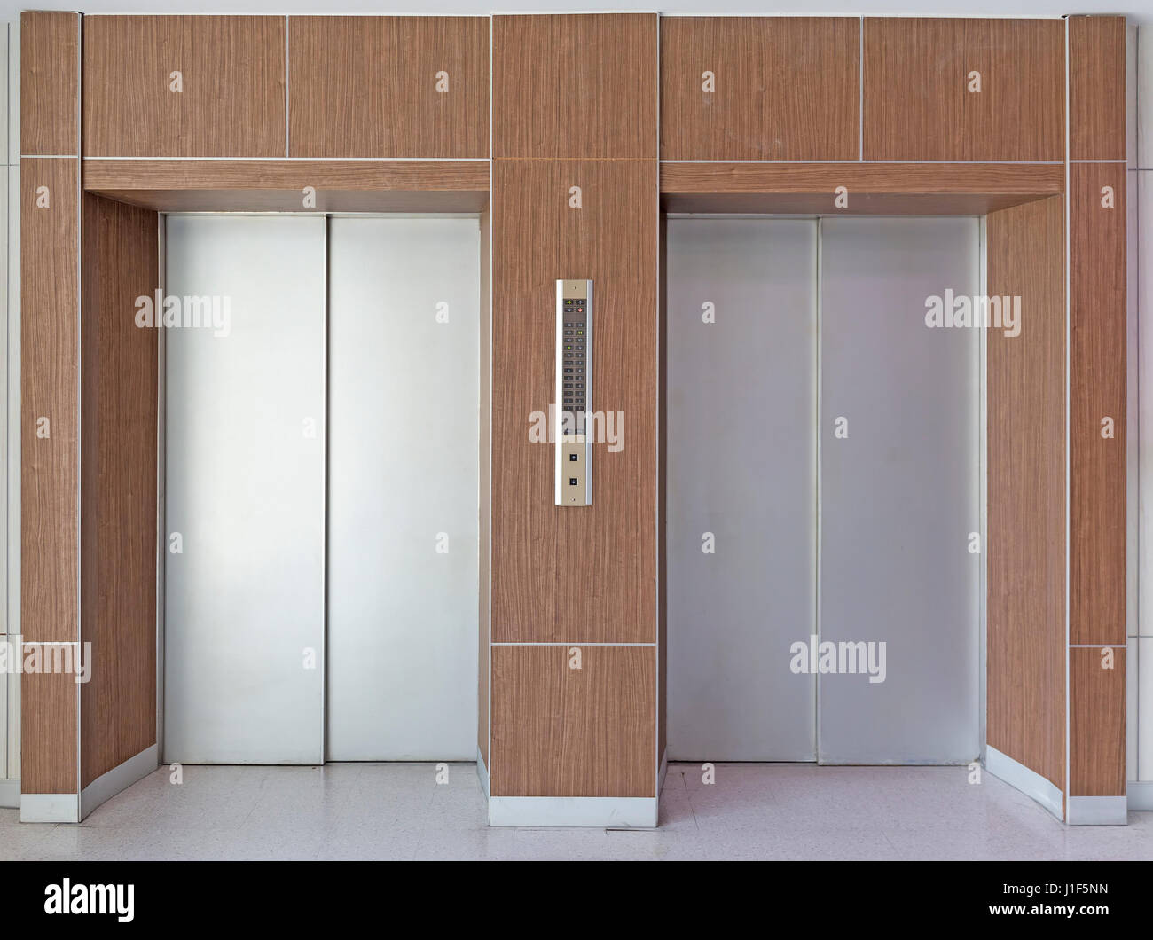 Elevator door or steel door inside office building Stock Photo ...