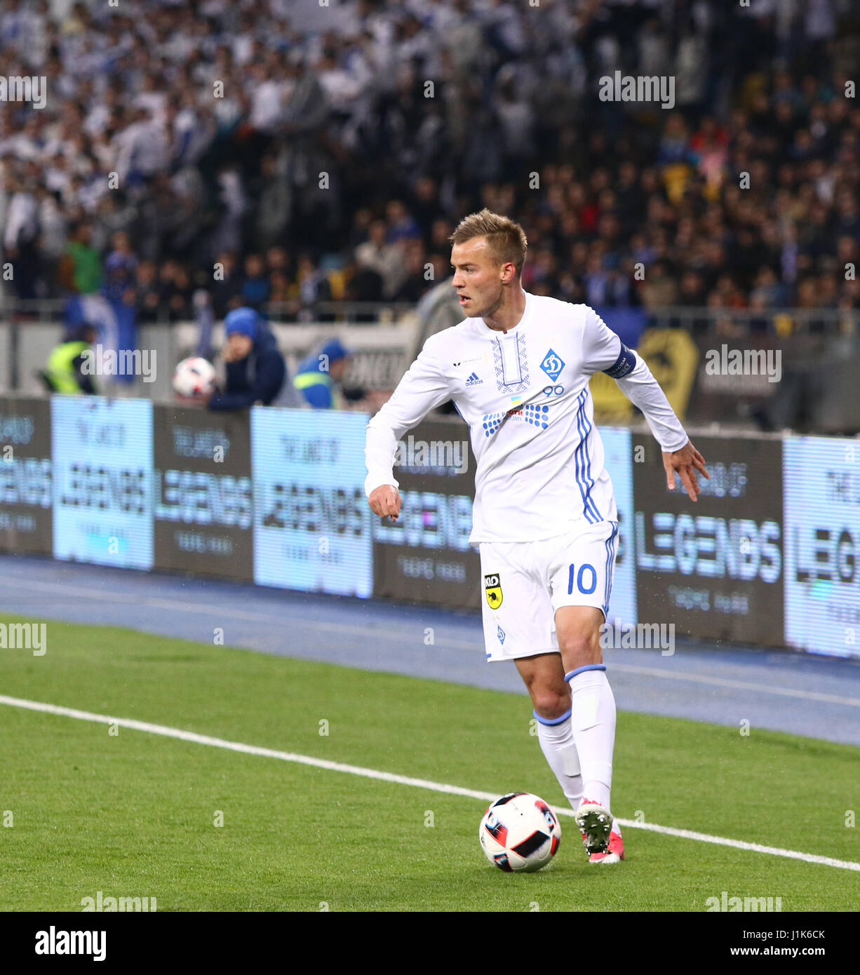 Kiev Ukraine 21st April 2017 Striker Andriy Yarmolenko of