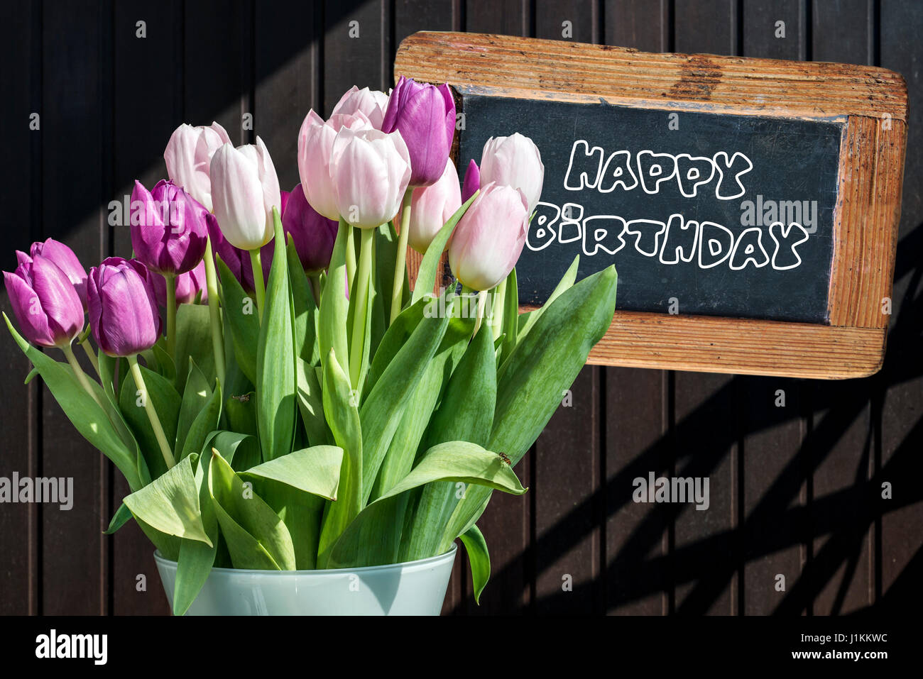wooden flower vase design with Stock Photo Wooden Chalkboard Happy Birthday Sign With Beautiful Pink Tulips Bucket 138730296 on Creative Easter Table Decoration Ideas To Inspire You further Watch additionally P7yyw57q also Gorgeous Wooden Kitchen Furniture Units With Beautiful Island Feat Flower Vase And Pleasant Marble Top Also  pleted With Stainless Under Mount Sink further Designing The Divine Space Prayer Pooja Room.