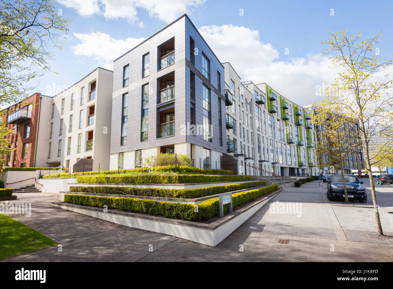 Modern Architecture Uk modern architecture apartment or flats development, edgbaston