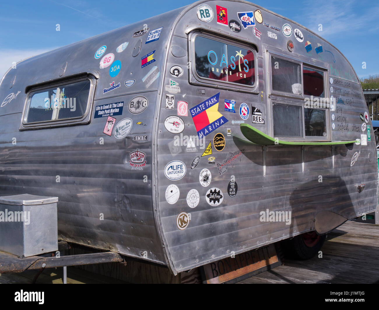 Serro scotty sportsman trailer used to sell shaved ice at the state park marina table rock state park near branson missouri