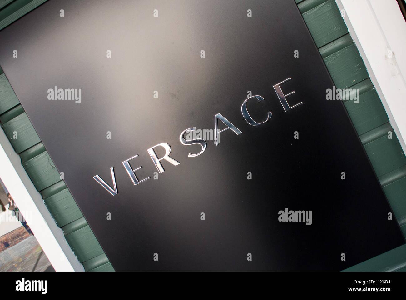 Versace logo stock photos versace logo stock images alamy versace brand stock image biocorpaavc Gallery