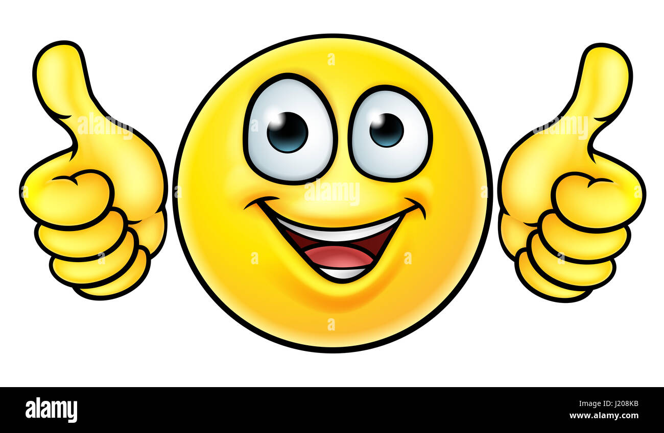 A Cartoon Emoji Icon Emoticon Looking Very Happy With His