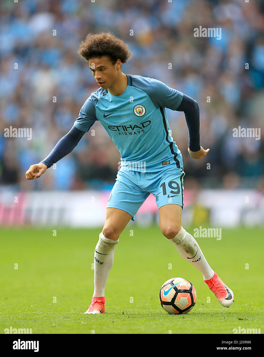 Manchester City s Leroy Sane during the Emirates FA Cup Semi