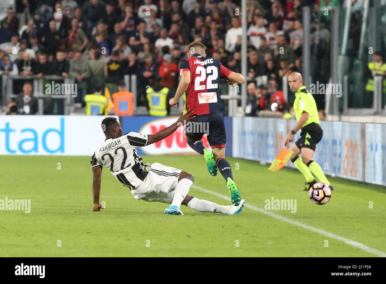 Turin Italy 23rd Apr 2017 Kwadwo Asamoah Juventus FC and