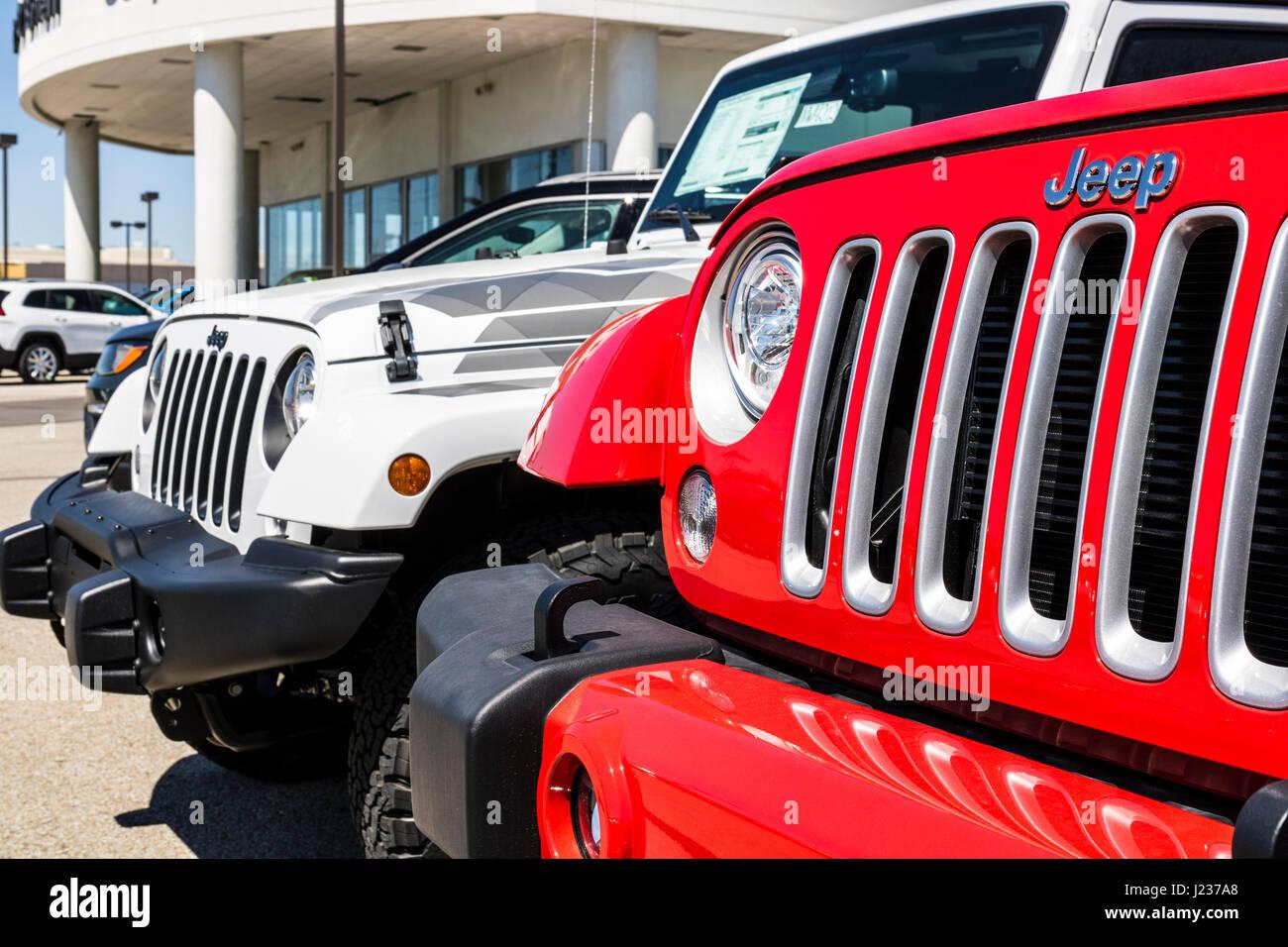 Indianapolis Circa April Jeep Automobile Dealership Jeep - Chrysler dealer indianapolis
