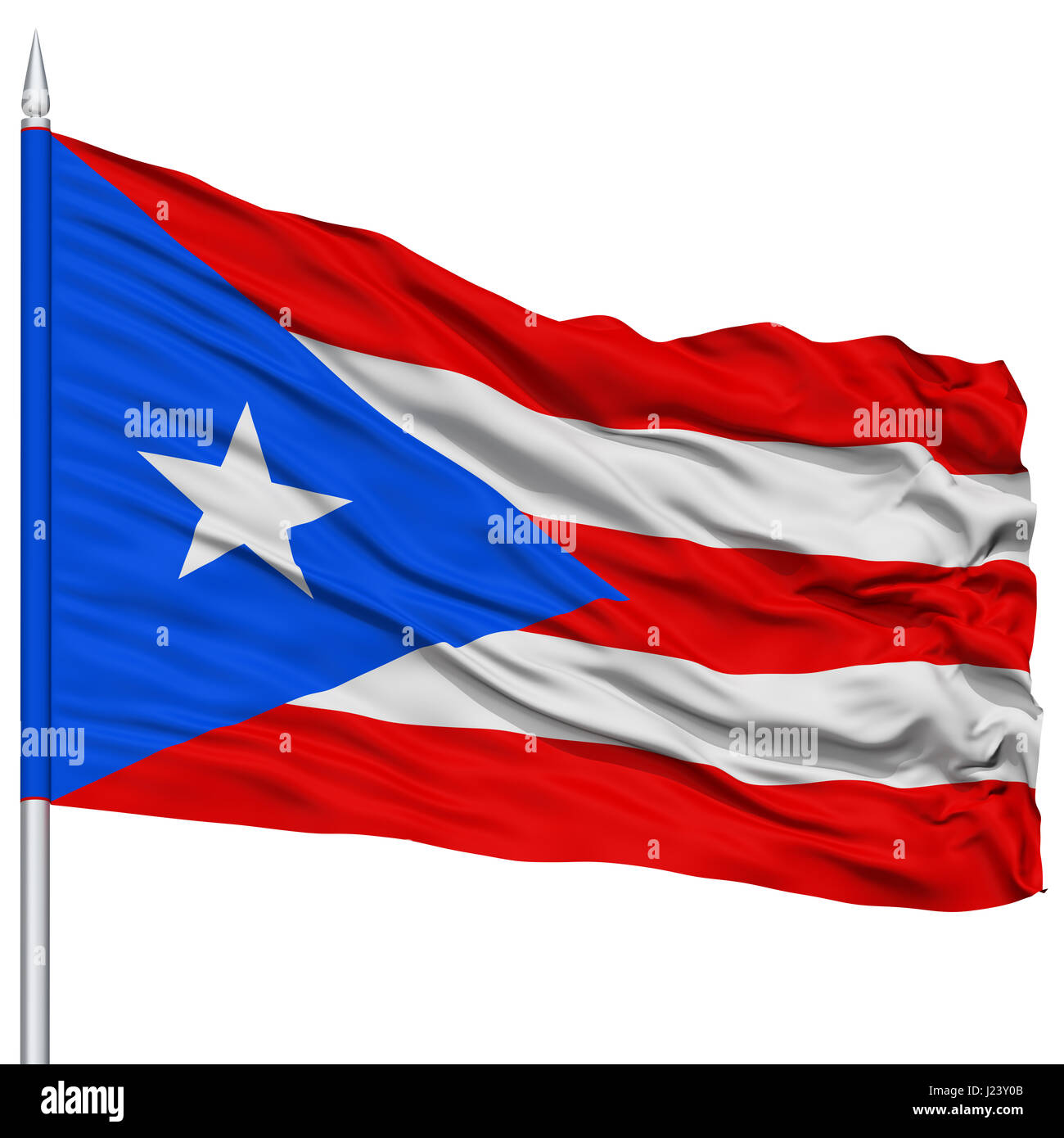 Puerto rico flag on flagpole stock photo royalty free image puerto rico flag on flagpole biocorpaavc Image collections