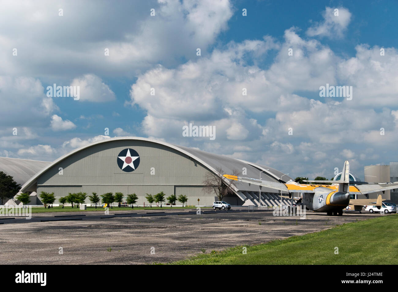 Large Aircraft Stand Outside The National Museum Of The United - United states air force bases