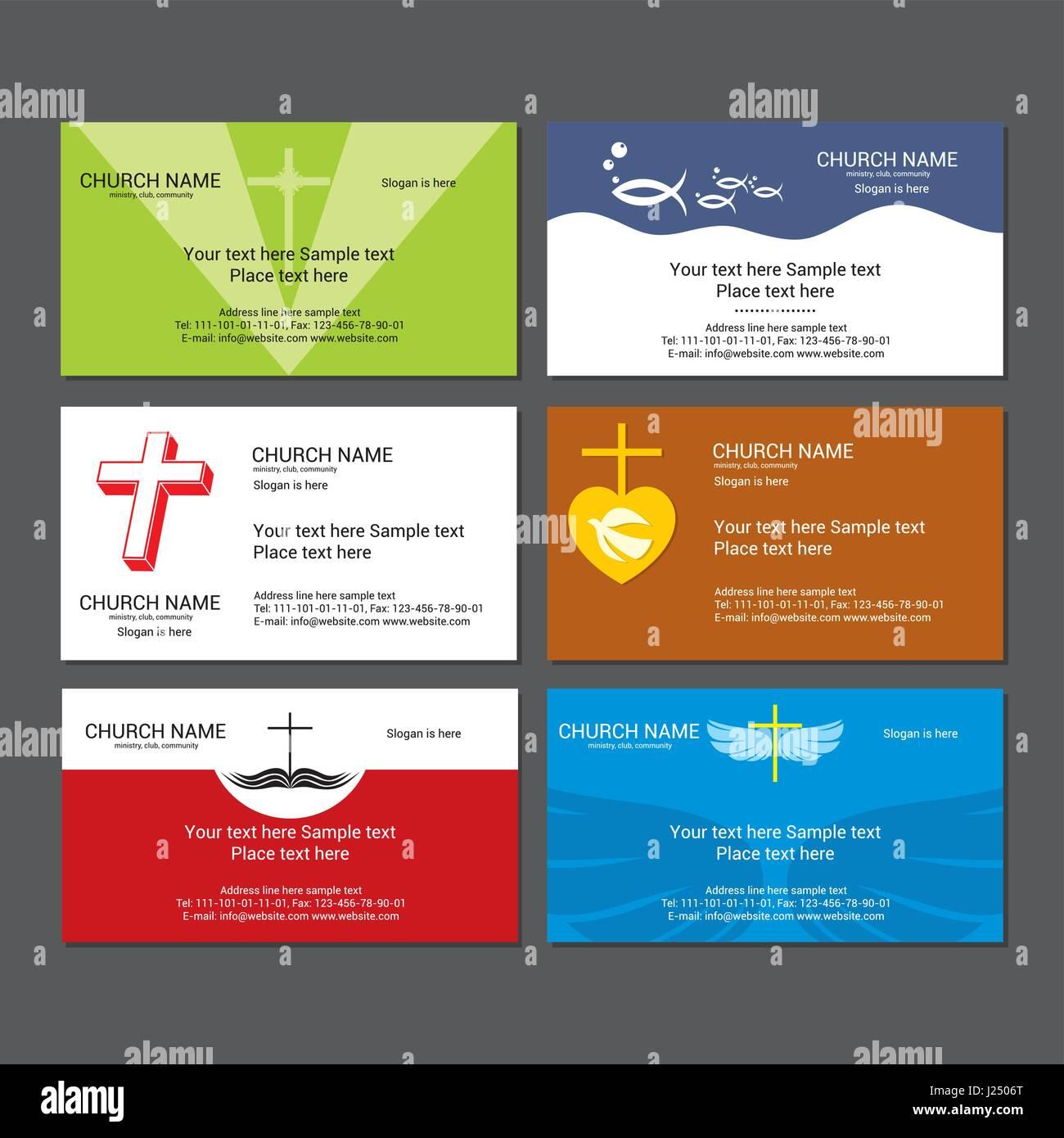Set christian business cards for the church Stock Vector Art ...