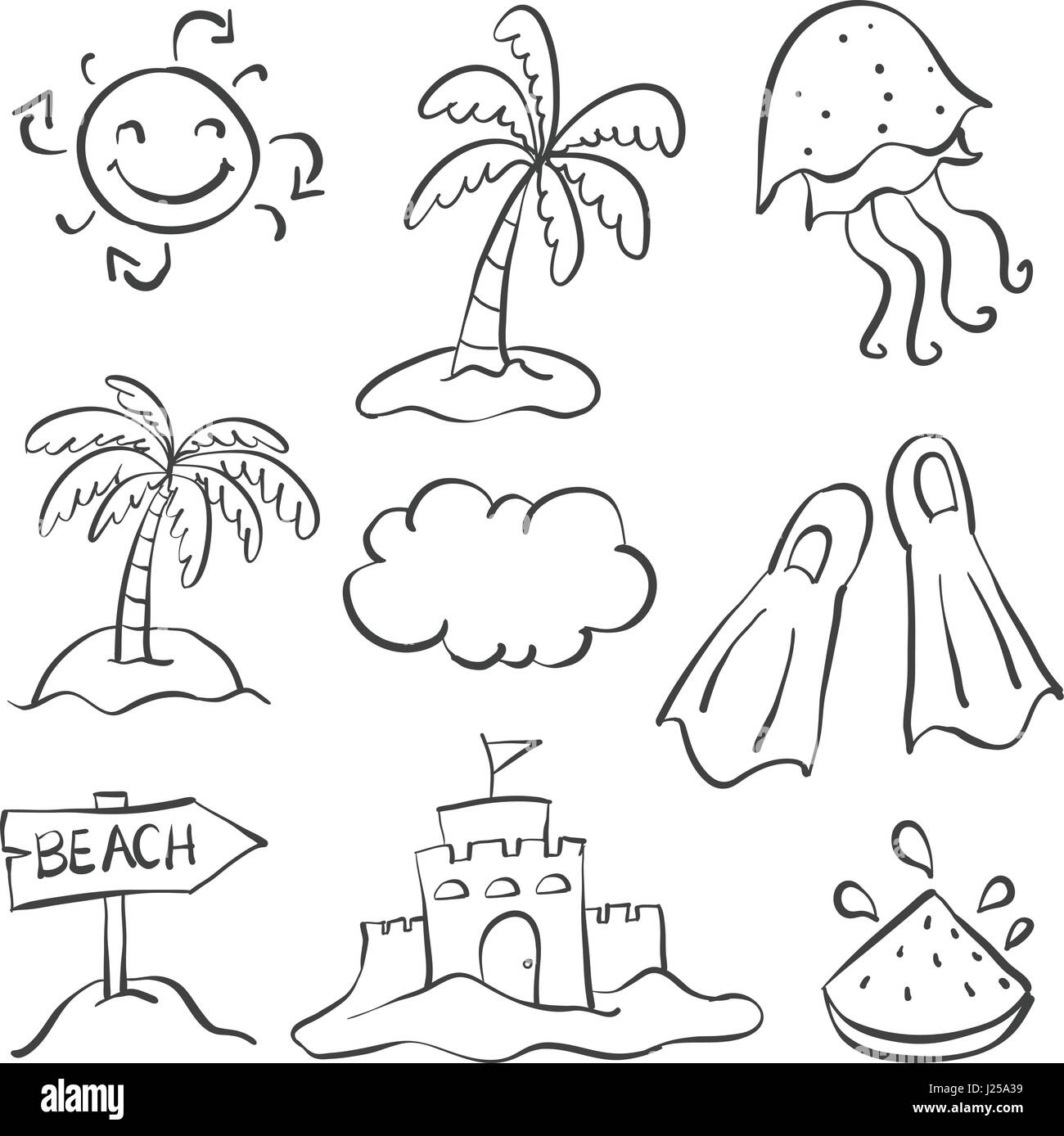 summer camps how to draw