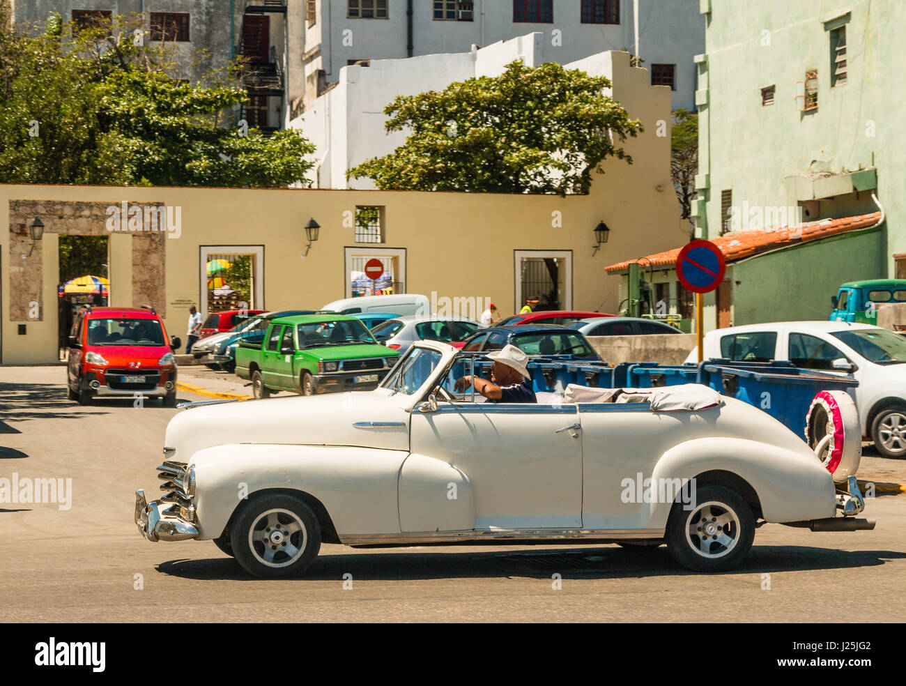 Old American convertible car, Havana, Cuba Stock Photo, Royalty Free ...