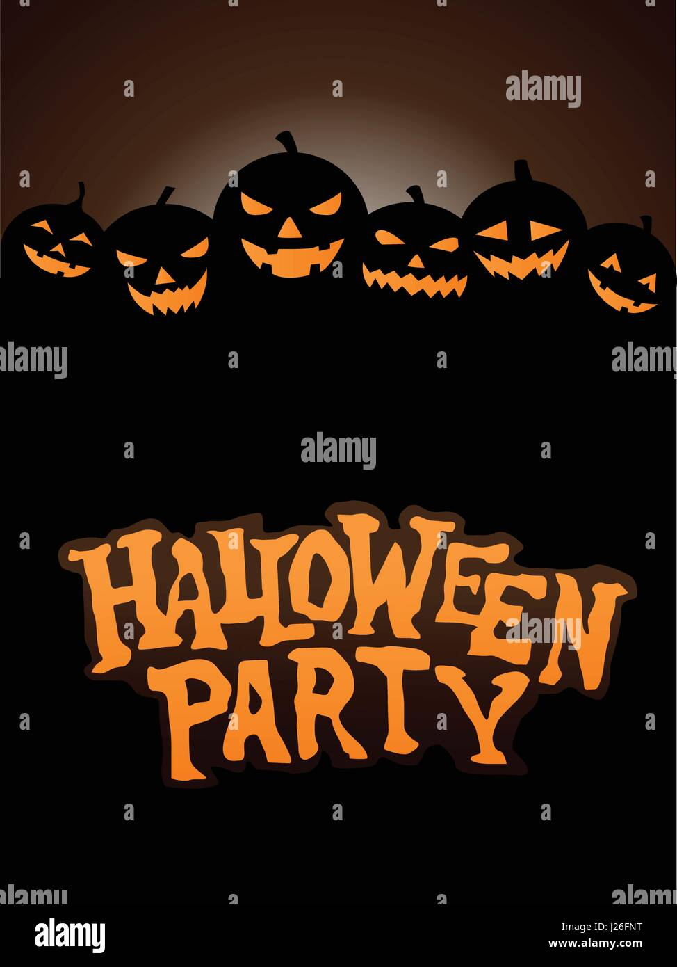 Halloween Party Background with Pumpkins Stock Vector Art ...
