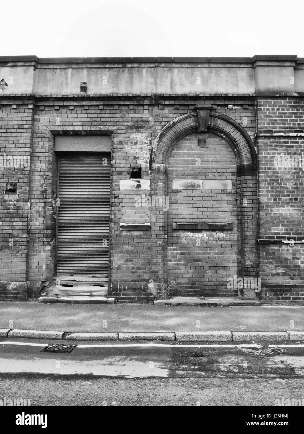Stock Photo - abandoned building with shutter and bricked up doorway & abandoned building with shutter and bricked up doorway Stock Photo ... Pezcame.Com