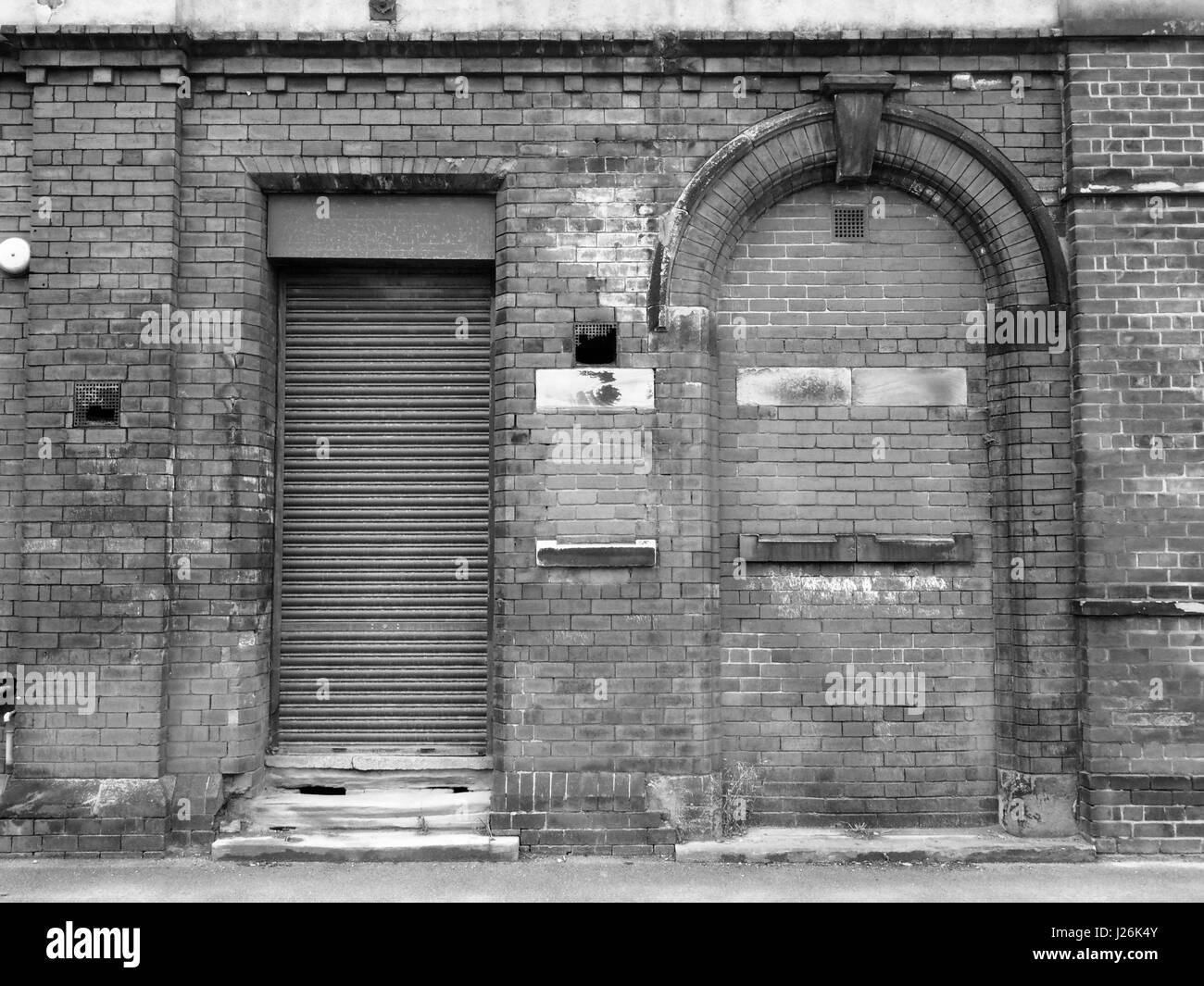 Stock Photo - old abandoned building with shutter and bricked up doorway & old abandoned building with shutter and bricked up doorway Stock ... Pezcame.Com