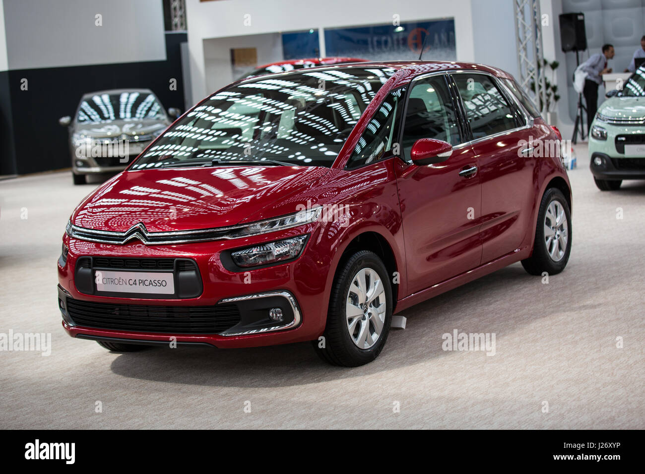 belgrade serbia march 23 2017 new citroen c4 picasso presented stock photo royalty free. Black Bedroom Furniture Sets. Home Design Ideas