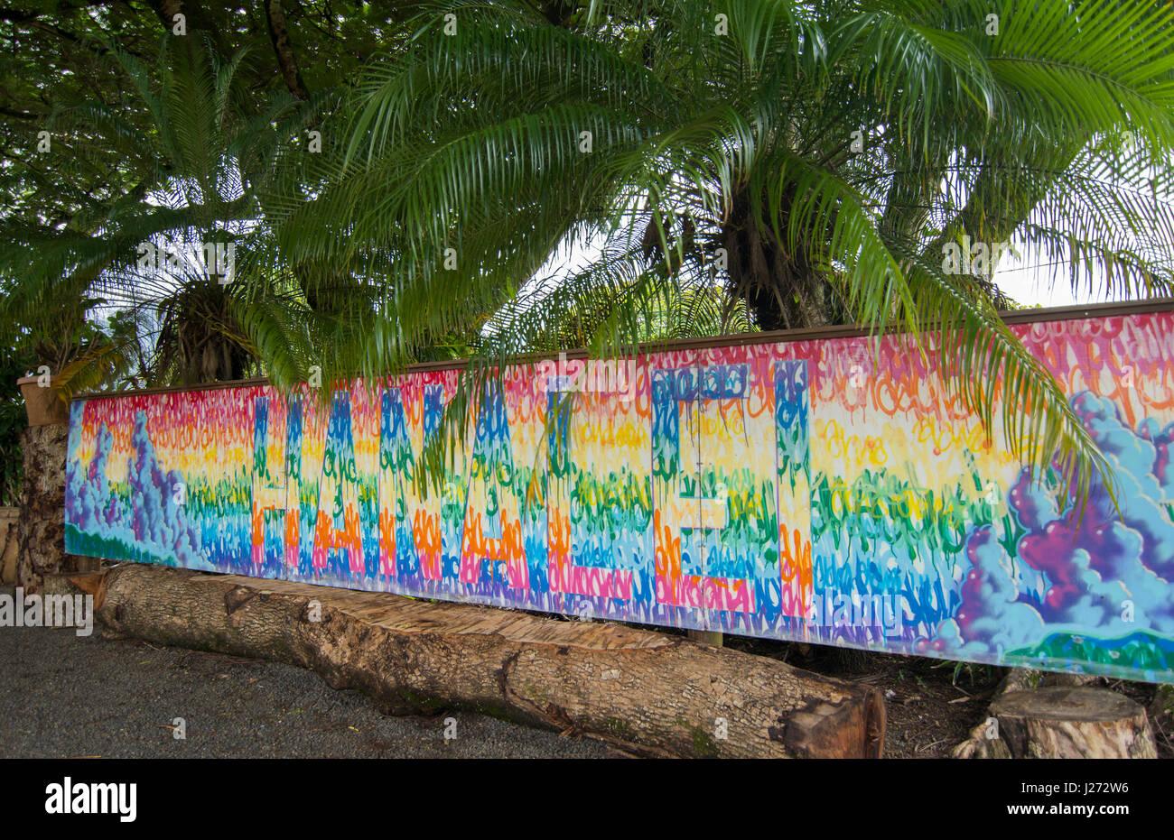 Hawaiian wall murals best 25 murals ideas on pinterest paint hanalei kauai hawaii colorful mural sign tile on wall north shore hanalei kauai hawaii colorful mural amipublicfo Image collections