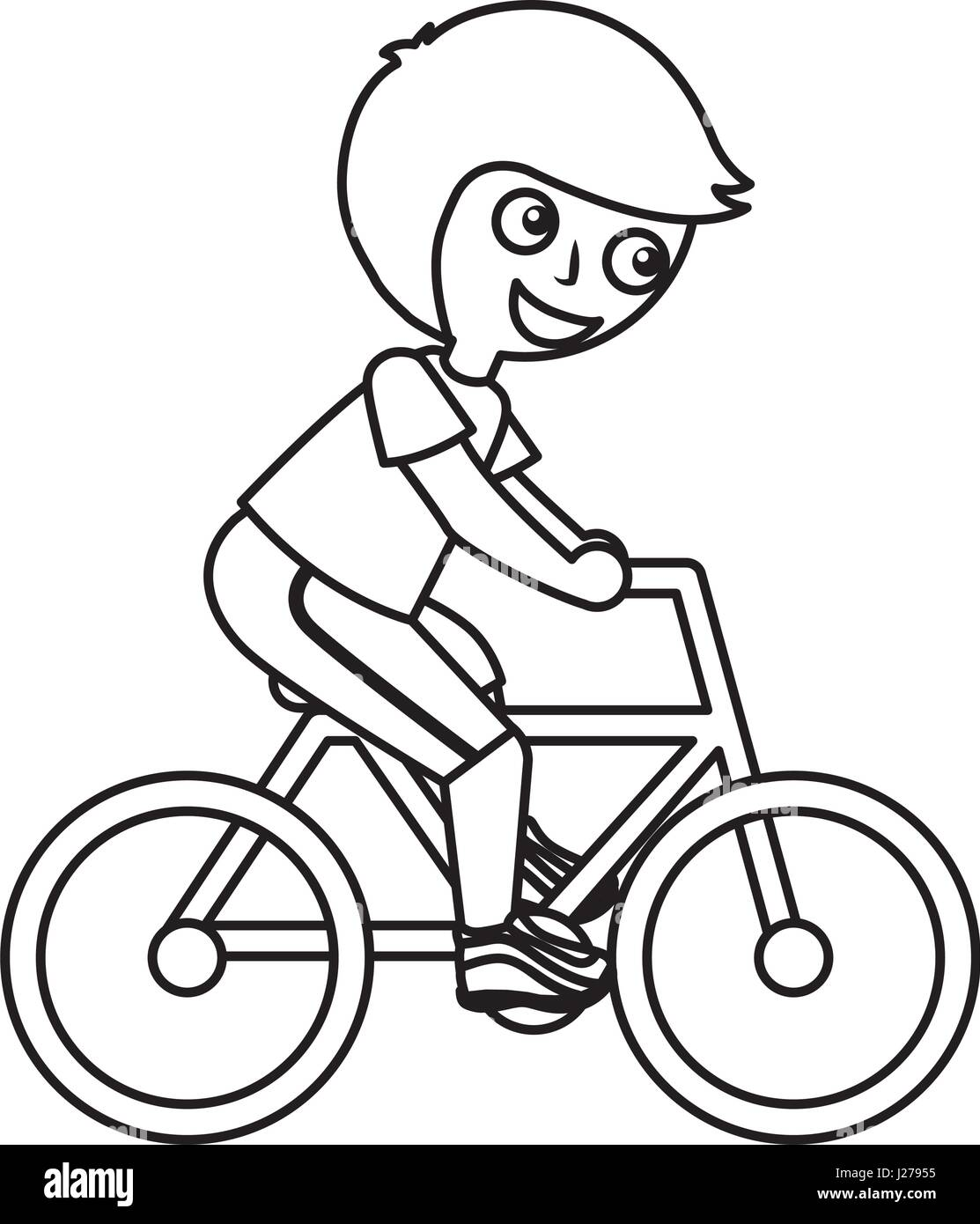 Little Kid Riding Bicycle Stock Vector Art Illustration Vector