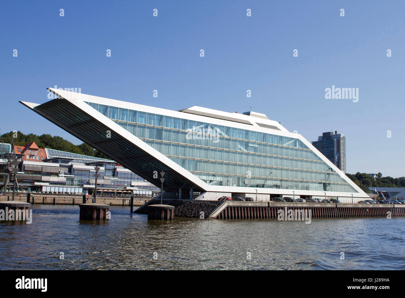 germany hamburg elbe river dockland office building brt stock photo royalty free image. Black Bedroom Furniture Sets. Home Design Ideas