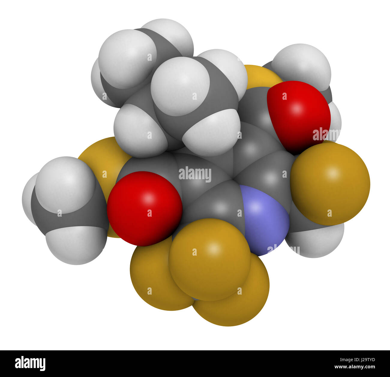 dithiopyr preemergent herbicide molecule 3d rendering atoms are represented as spheres with color - Preemergent Herbicide