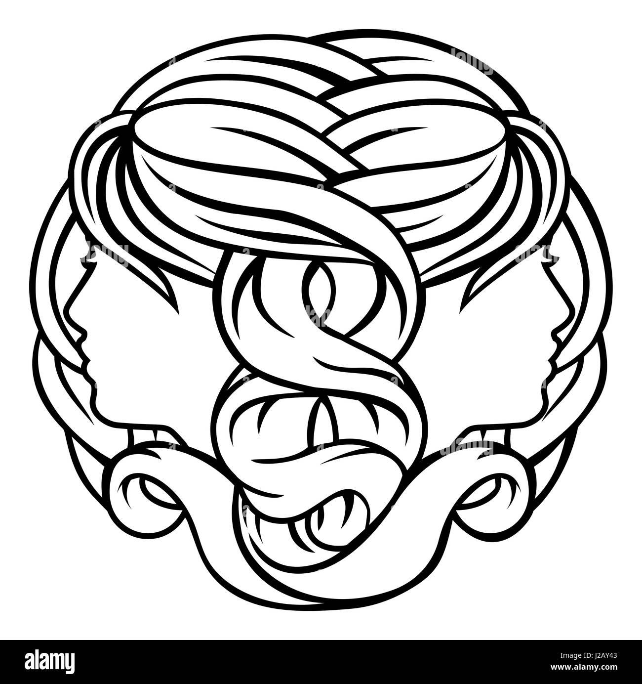 Astrology zodiac signs circular gemini twins horoscope symbol astrology zodiac signs circular gemini twins horoscope symbol buycottarizona