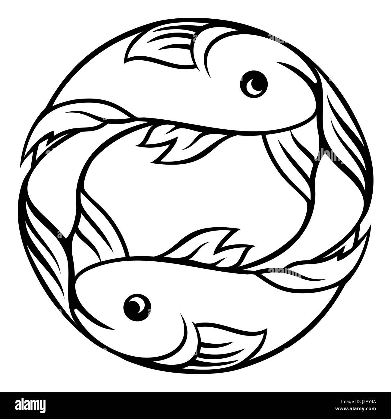 A pisces fish horoscope astrology zodiac sign symbol stock photo a pisces fish horoscope astrology zodiac sign symbol buycottarizona