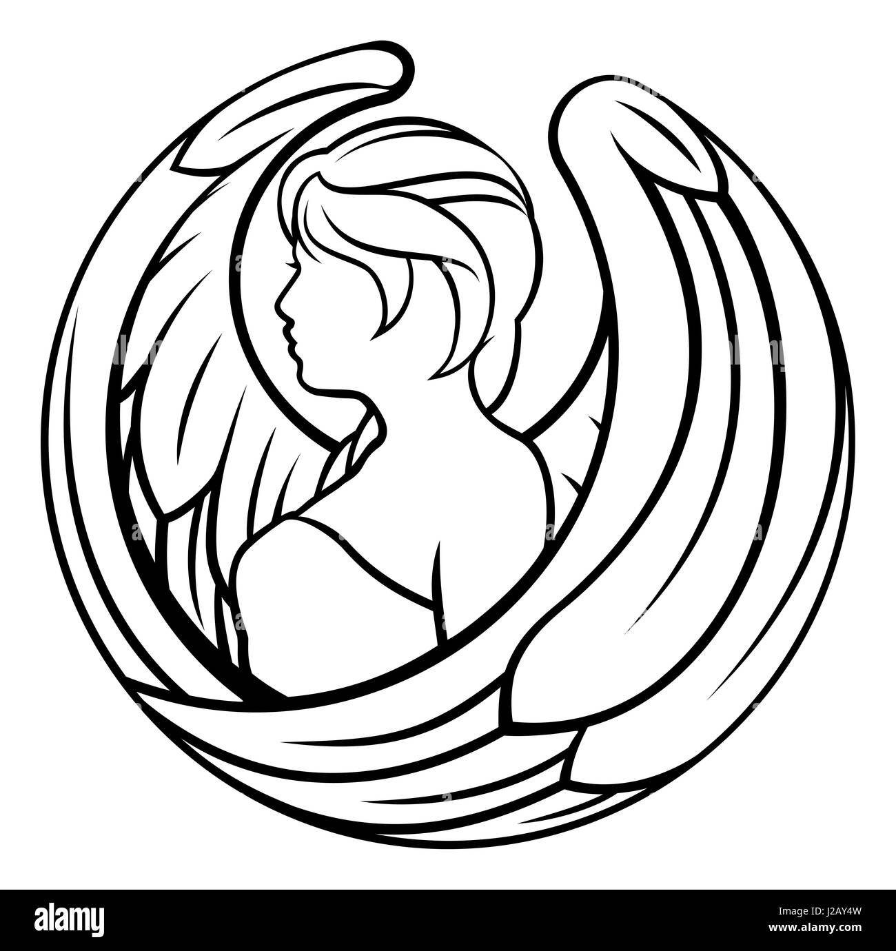 A virgo angel horoscope astrology zodiac sign symbol stock photo a virgo angel horoscope astrology zodiac sign symbol buycottarizona