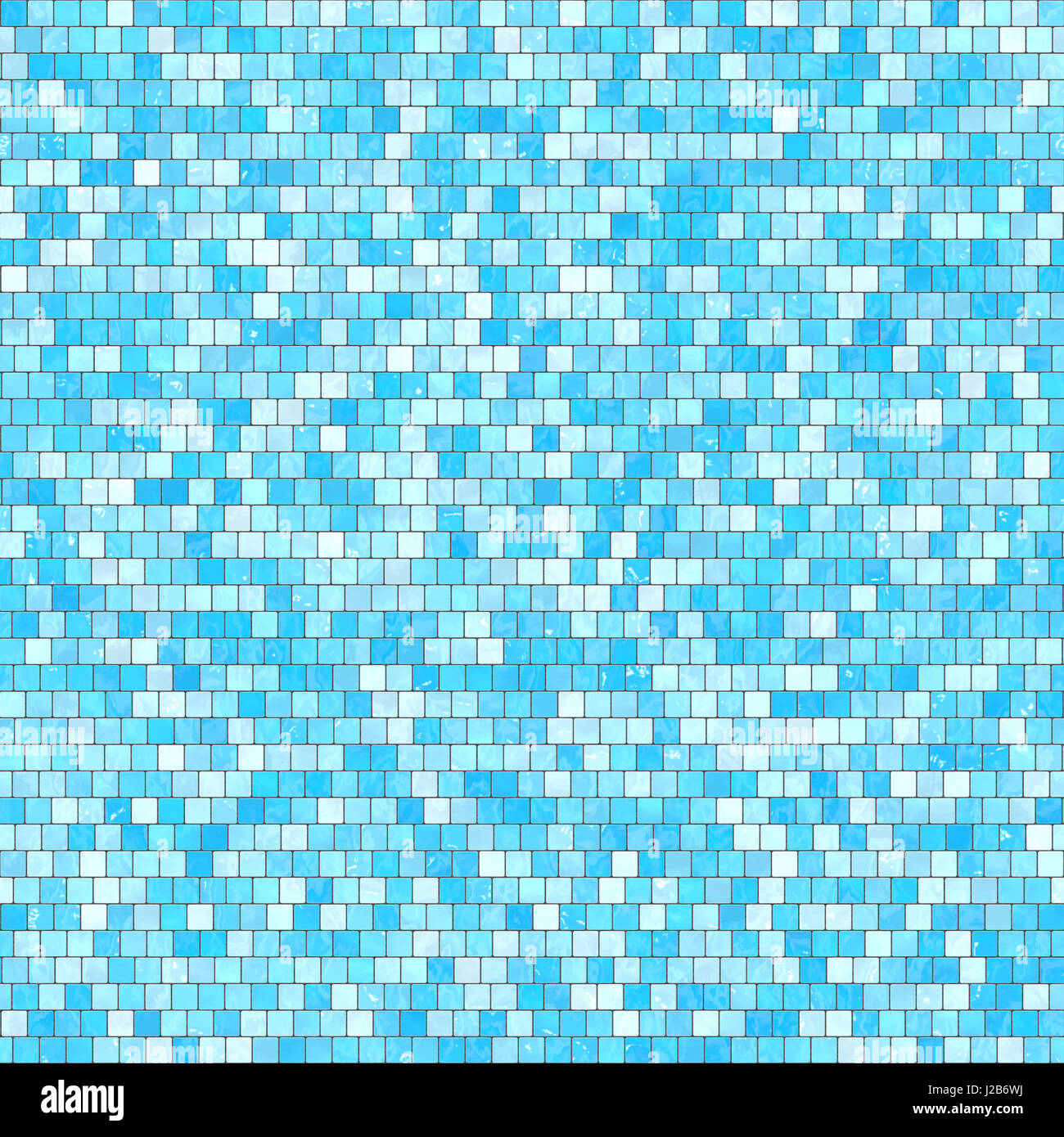 Ceramic Blue Mosaic Background Seamless Texture In