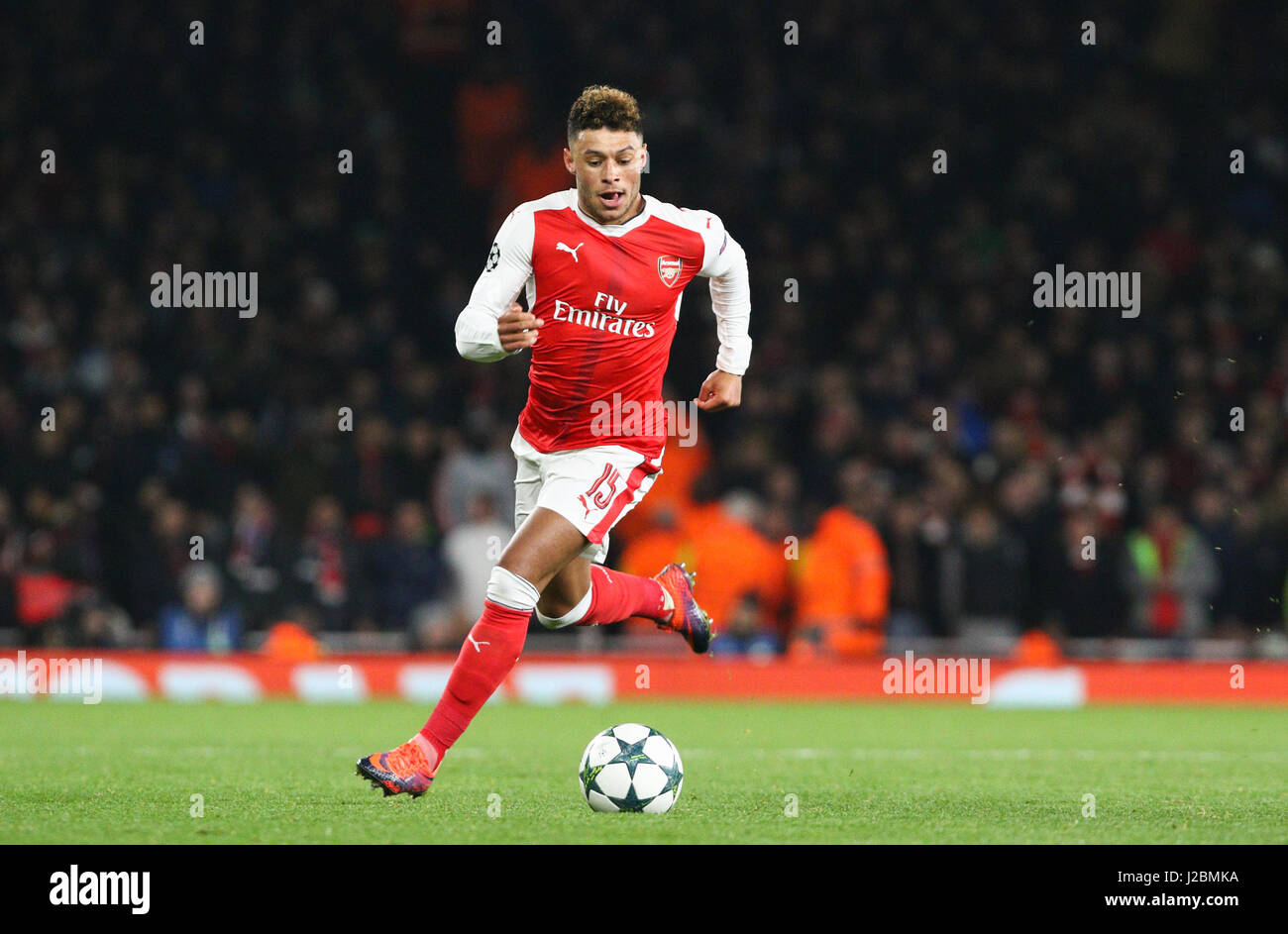 Alex Oxlade Chamberlain of Arsenal during the UEFA Champions