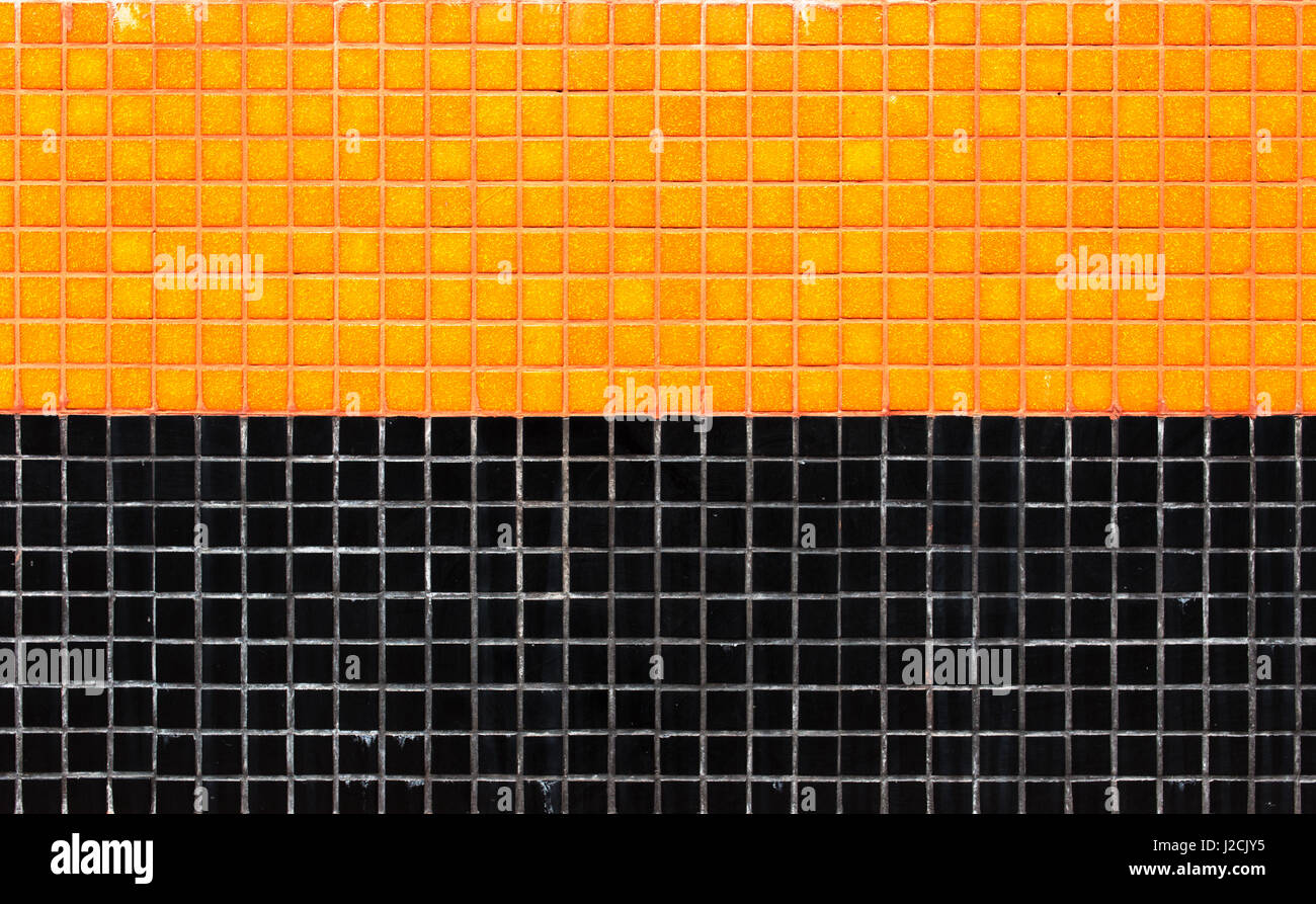 Texture of a ceramic tile of black color marble granite or coal colorful ceramic tiles mosaic orange and black background texture stock photo doublecrazyfo Choice Image