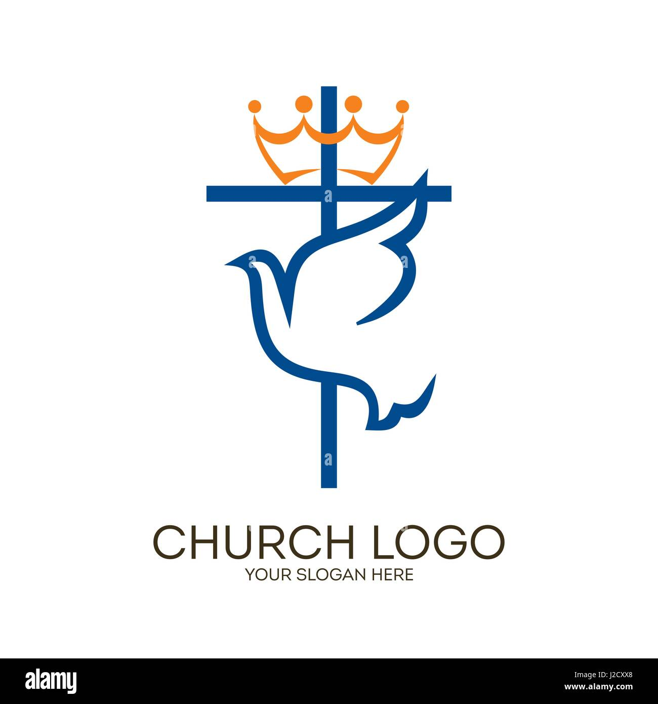 Church logo christian symbols cross and dove holy spirit stock christian symbols cross and dove holy spirit biocorpaavc