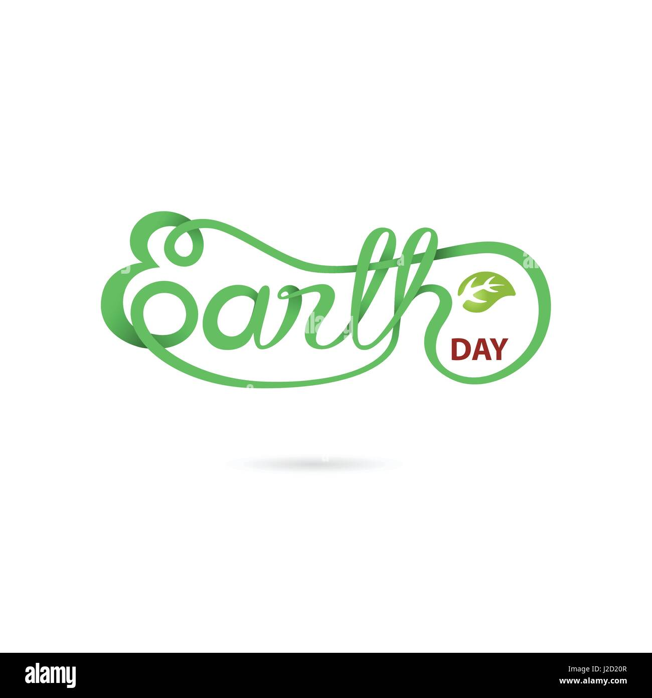Green earth day typographical design elementsearth day hand stock green earth day typographical design elementsearth day hand lettering iconearth day logotype symbolsign for greeting cardposterflyercoverbroc buycottarizona