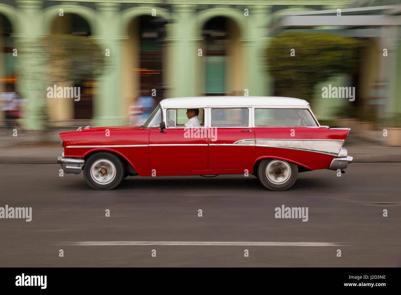 Caribbean, Cuba, Havana. 1957 Chevrolet Nomad. Collectible ...