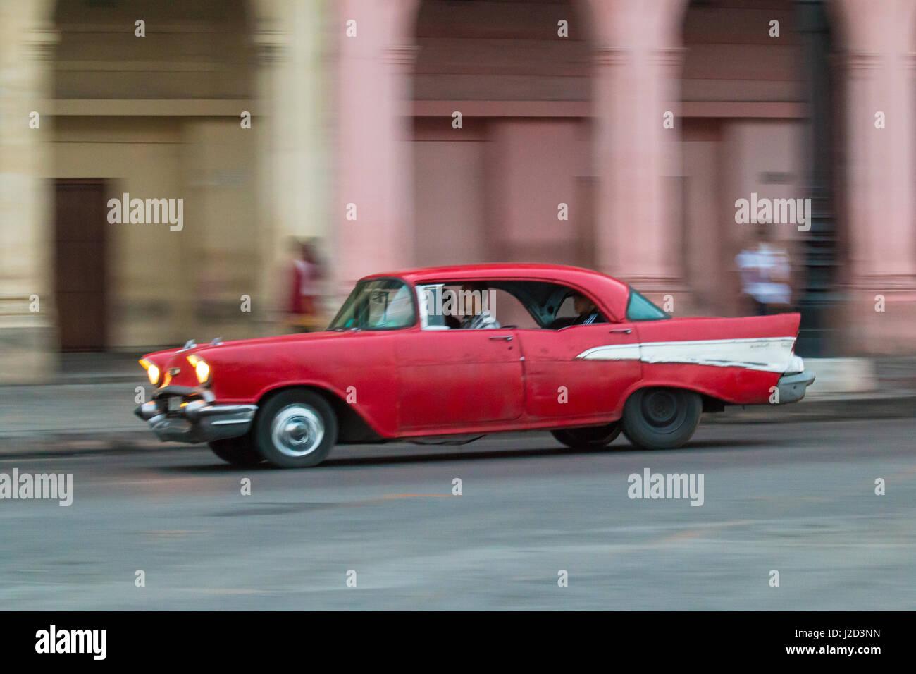 Caribbean, Cuba, Havana, collectible, vintage cars along Havana\'s ...