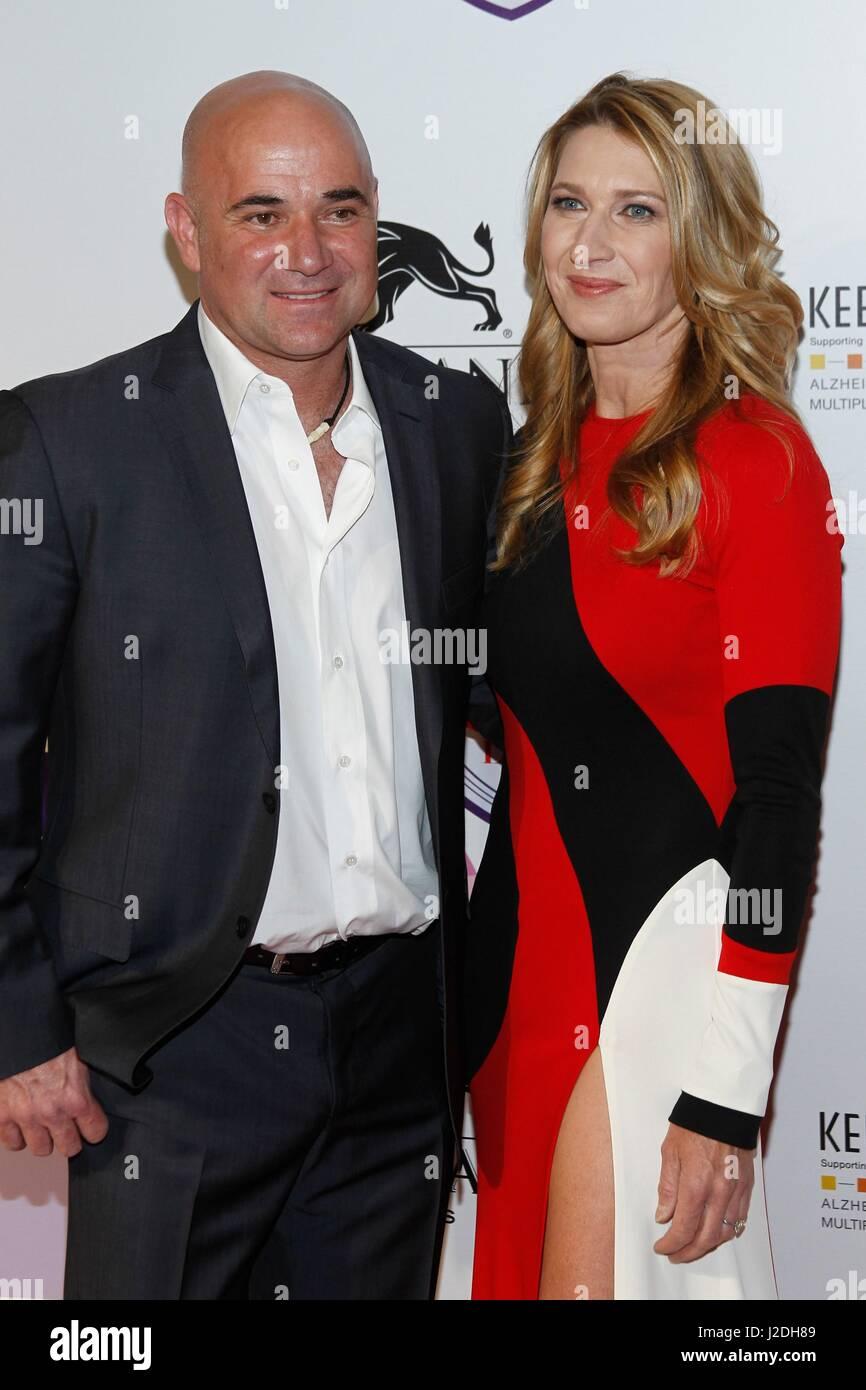 Las Vegas NV USA 27th Apr 2017 Andre Agassi Steffi Graf at