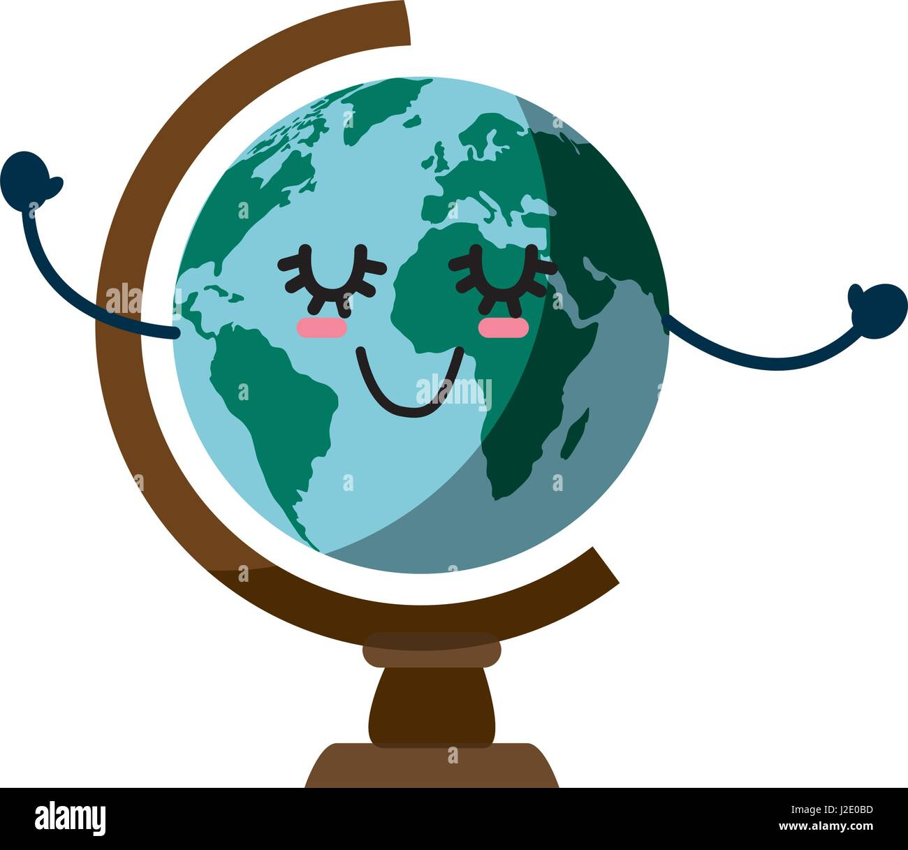 World globe cartoon stock vector art illustration vector image world globe cartoon sciox Images