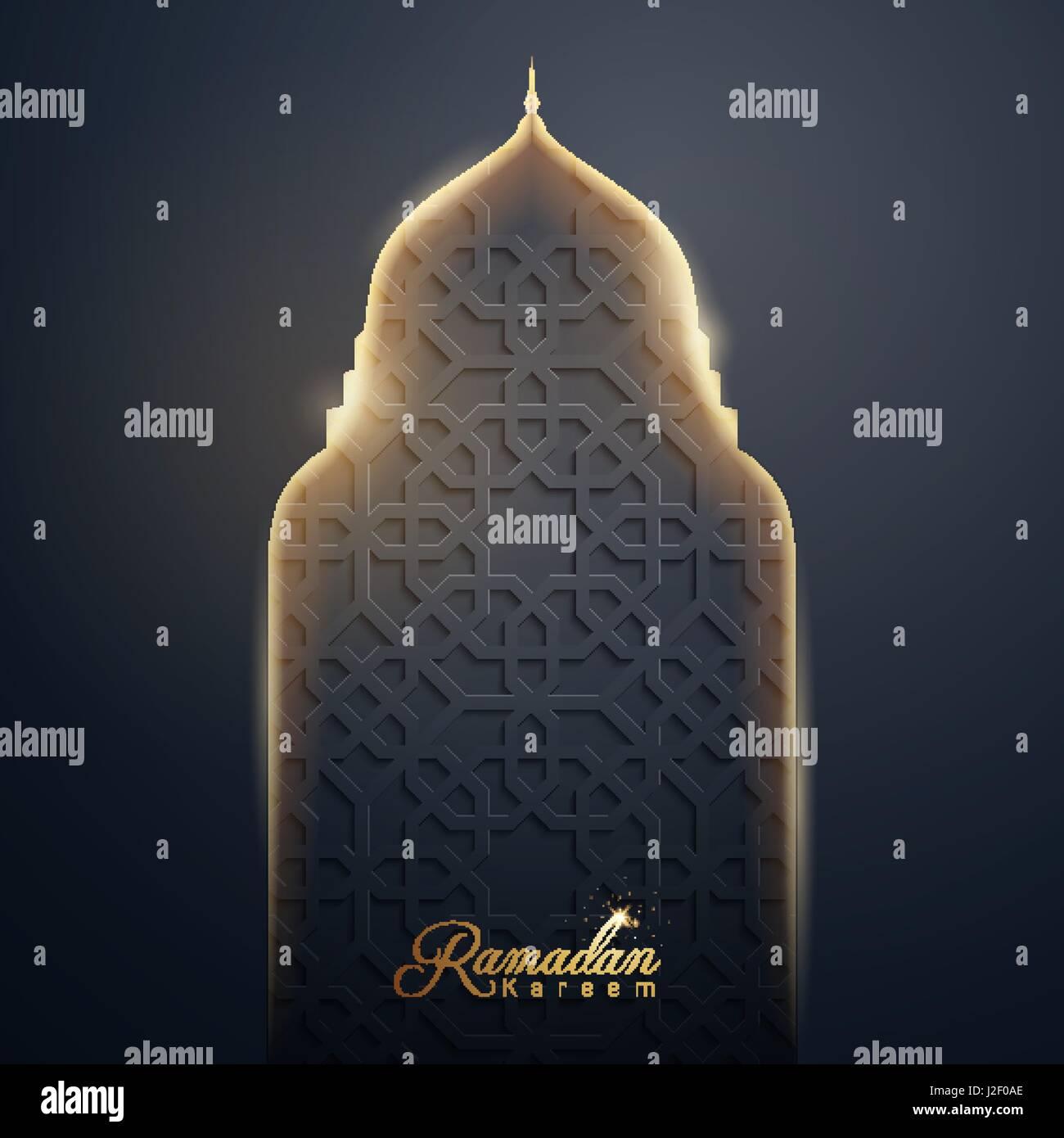 Mosque background for ramadan kareem stock photography image - Ramadan Kareem Islamic Vector Design Glow Mosque Dome With Arabic Pattern For Greeting Background