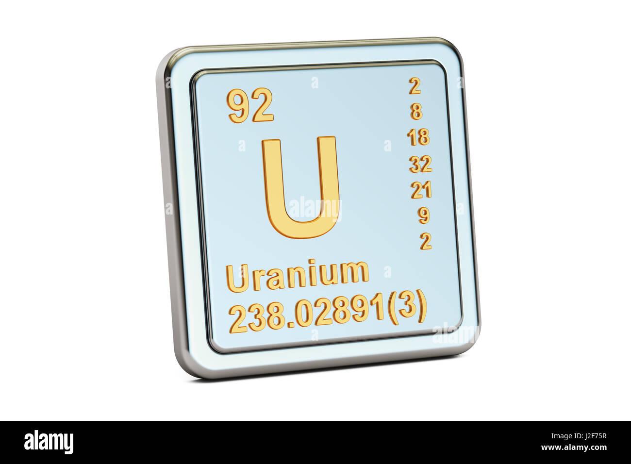Uranium u chemical element sign 3d rendering isolated on white uranium u chemical element sign 3d rendering isolated on white background buycottarizona Images