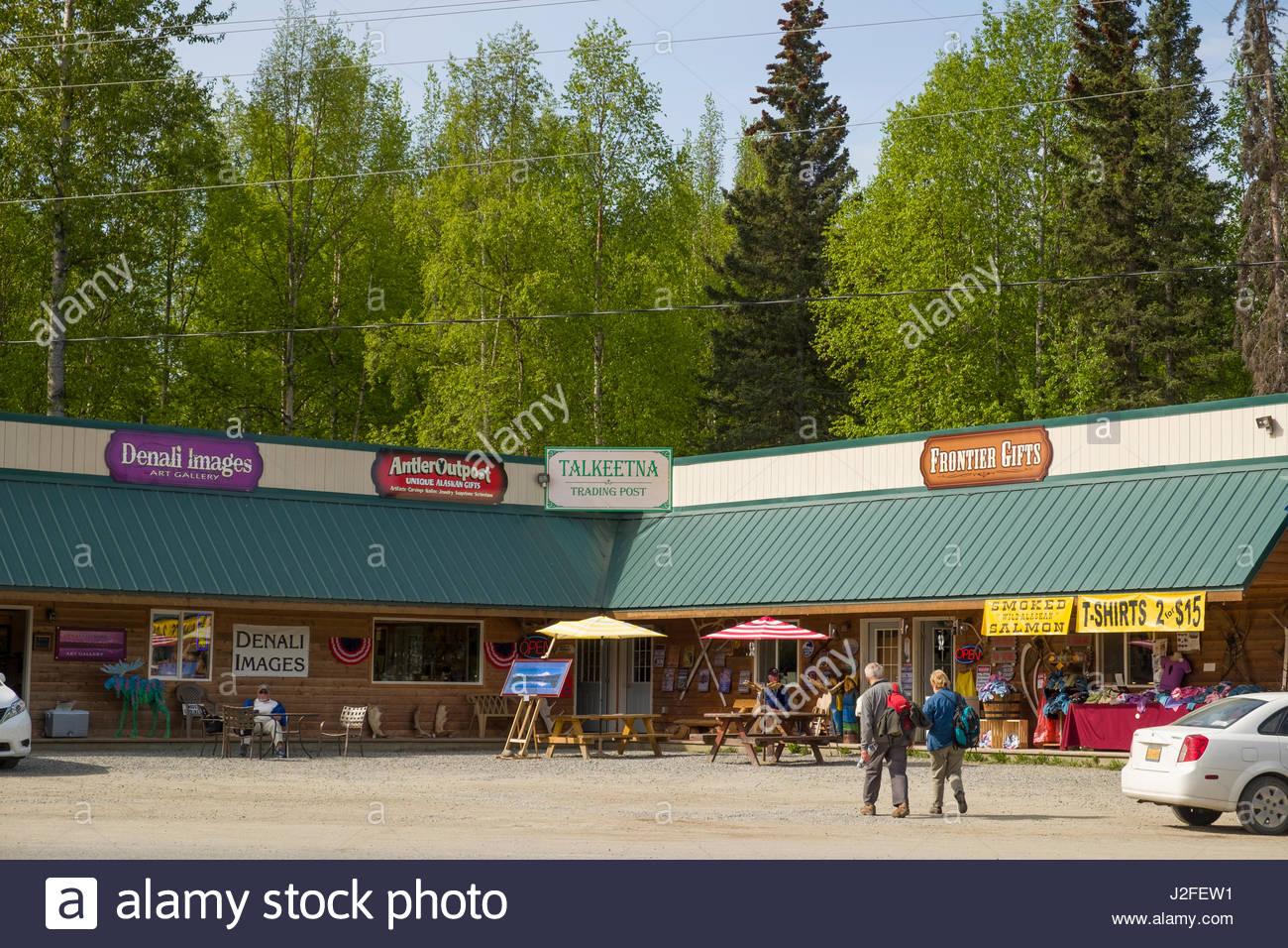 Alaska matanuska susitna county talkeetna - Shops In Strip Mall Talkeetna Matanuska Susitna Borough Alaska Usa