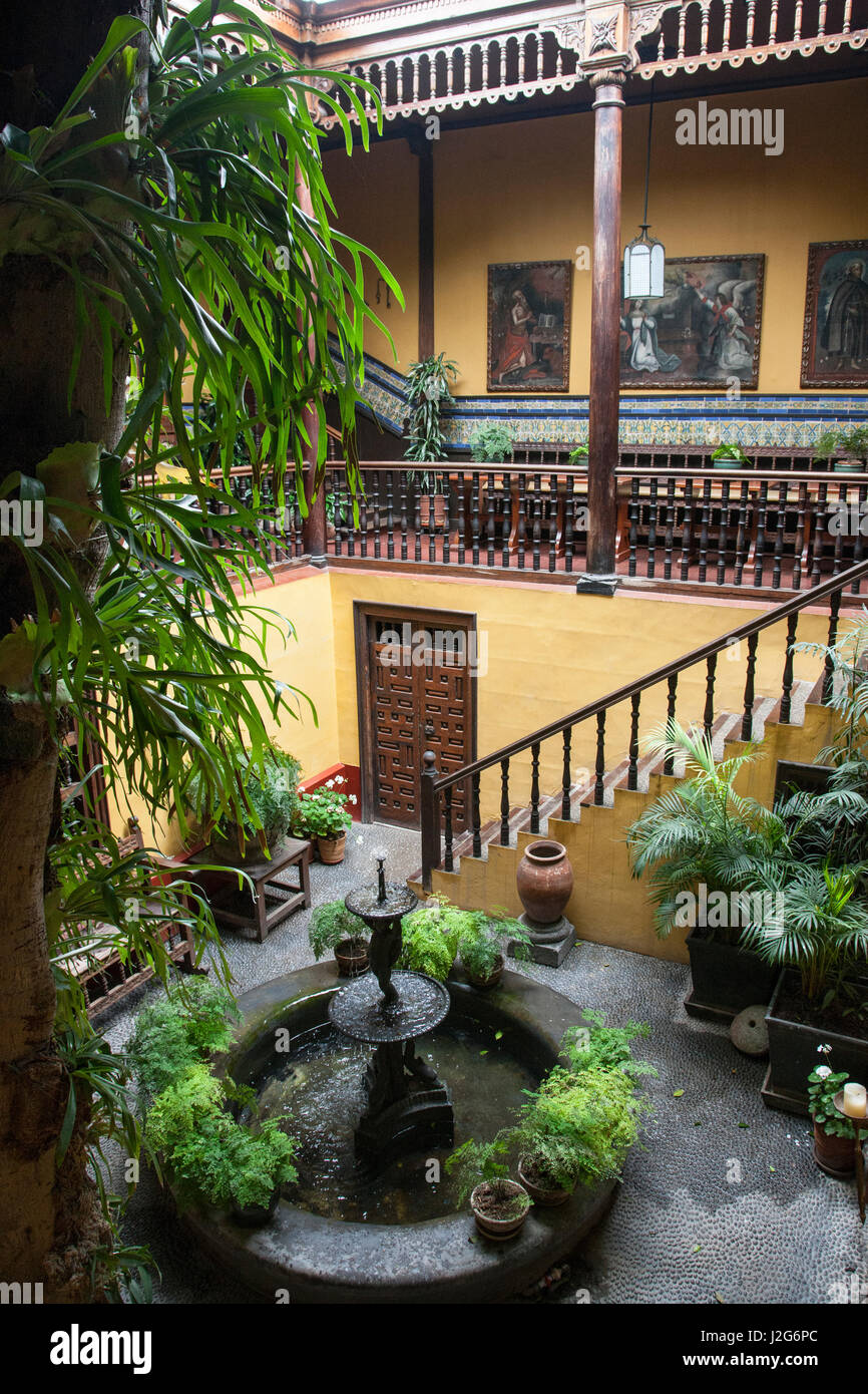 the casa de aliaga is the oldest colonial mansion in lima