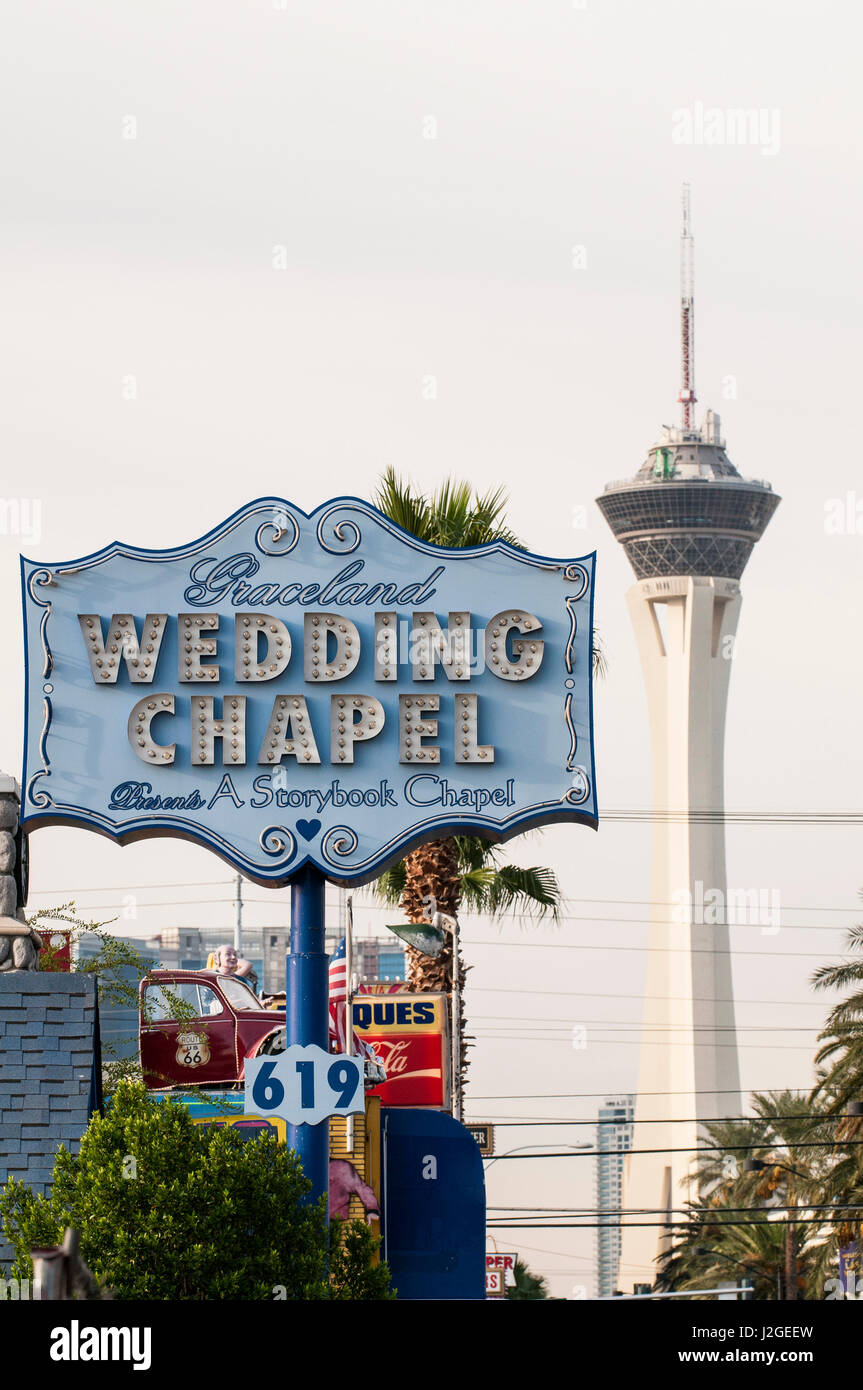 The Wedding Chapel With Stratosphere Tower Las Vegas Nevada