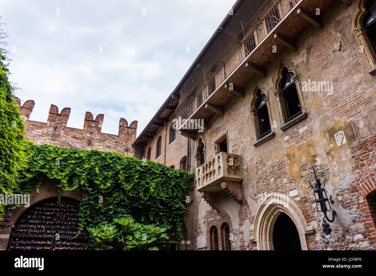 the famous balcony of romeo and juliet in verona italy