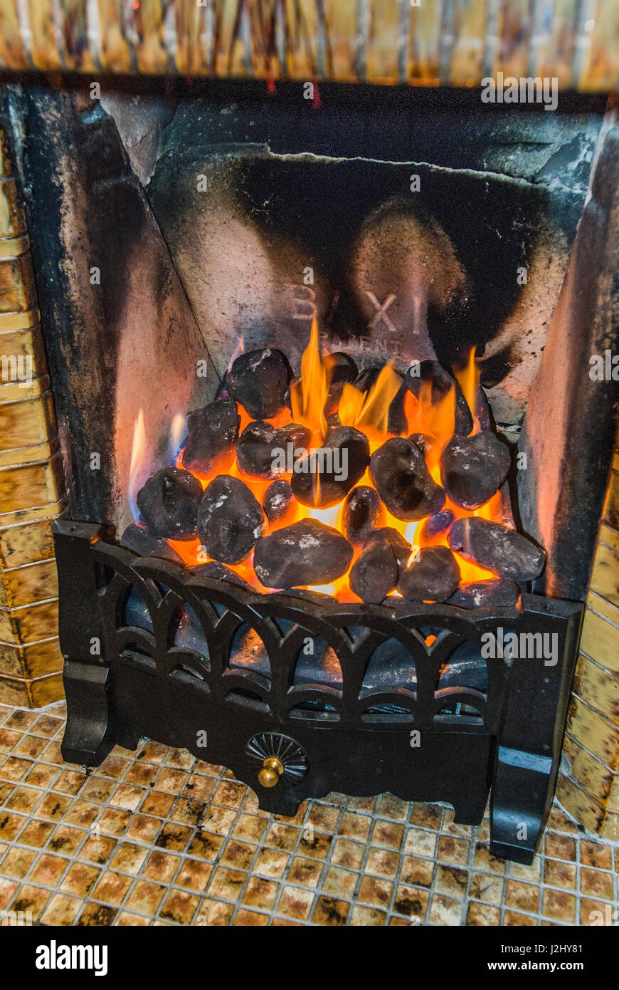 coal effect gas fire stock photo royalty free image 139306833