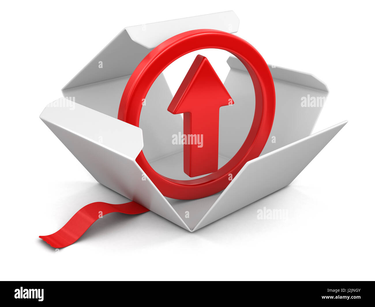 Open package with arrow up image with clipping path stock photo image with clipping path buycottarizona Images